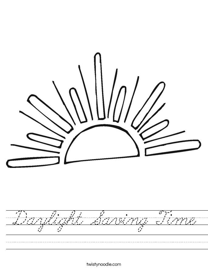 Daylight Saving Time Worksheet