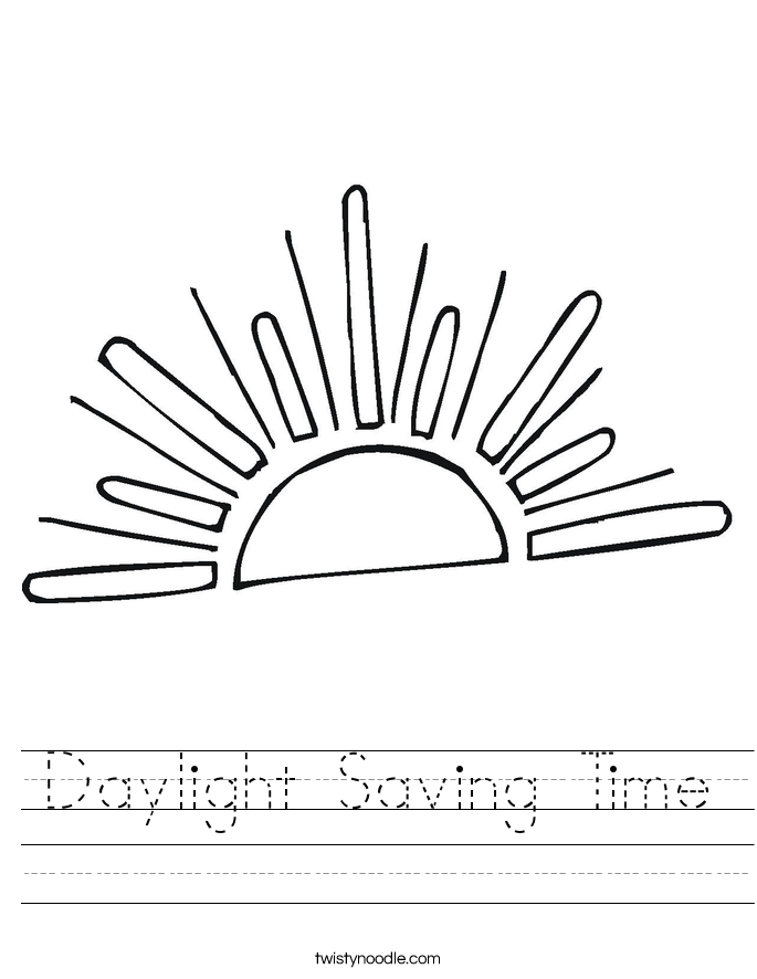 Daylight Saving Time Worksheet
