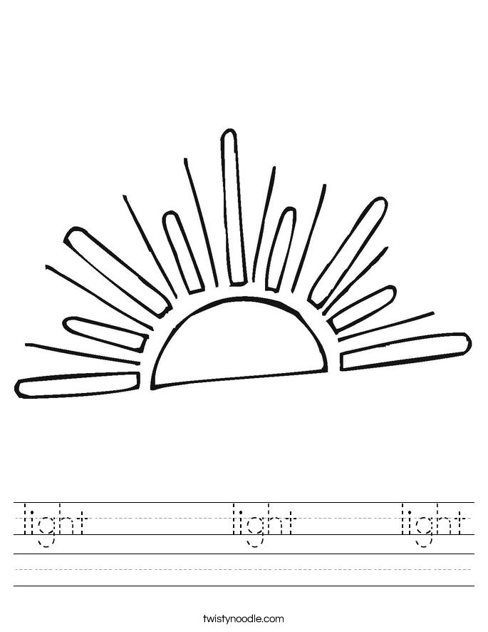 light       light     light Worksheet