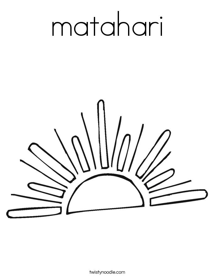 matahari Coloring Page