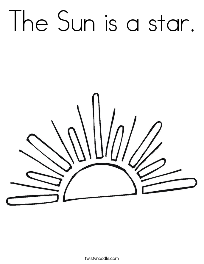 The Sun is a star. Coloring Page