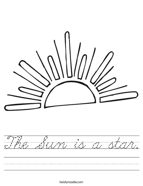 Setting Sun Worksheet