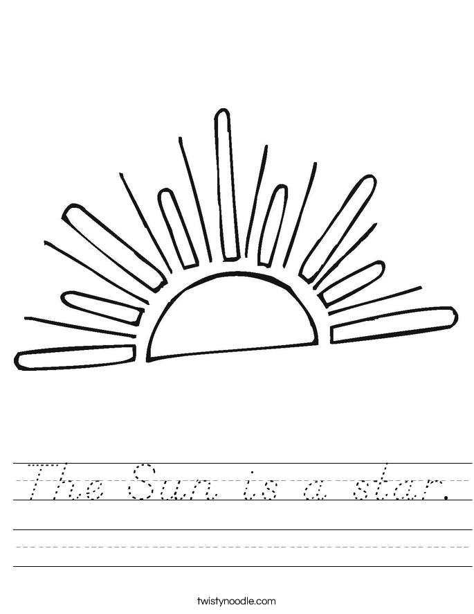The Sun is a star. Worksheet