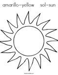 amarillo-yellow    sol-sunColoring Page