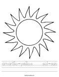 amarillo-yellow    sol-sun Worksheet