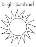 Bright Sunshine!Coloring Page