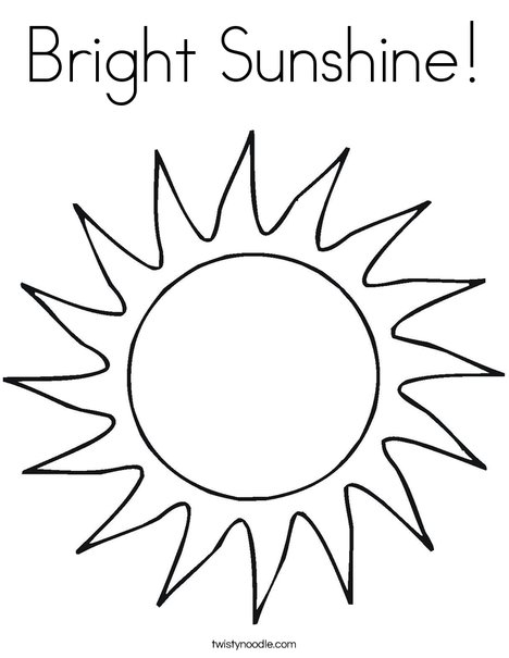 Bright Sunshine Coloring Page - Twisty Noodle