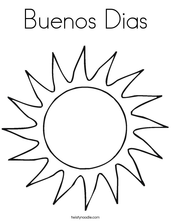 Buenos Dias Coloring Page