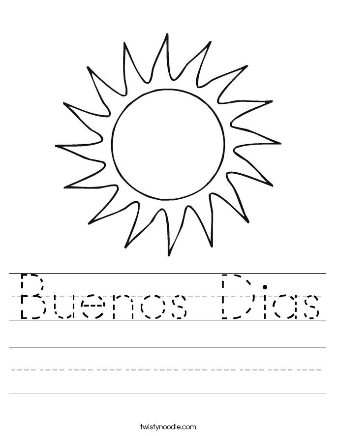 Buenos Dias Worksheet
