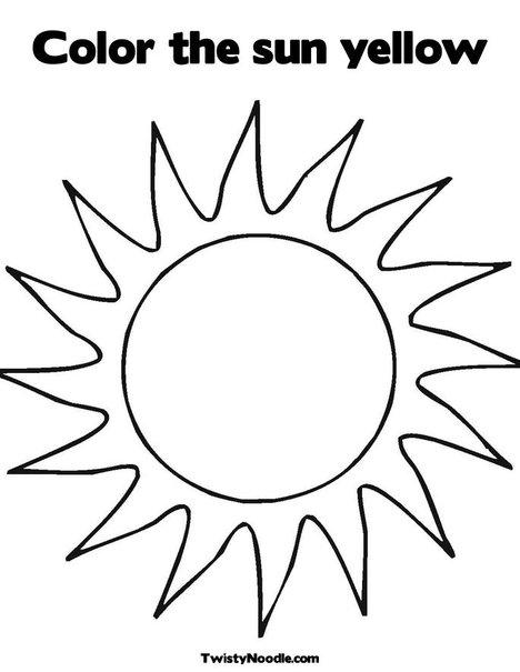 yellow things coloring pages - photo #12