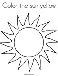 Color the sun yellowColoring Page