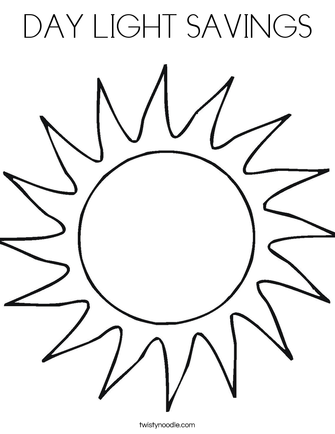 DAY LIGHT SAVINGS Coloring Page