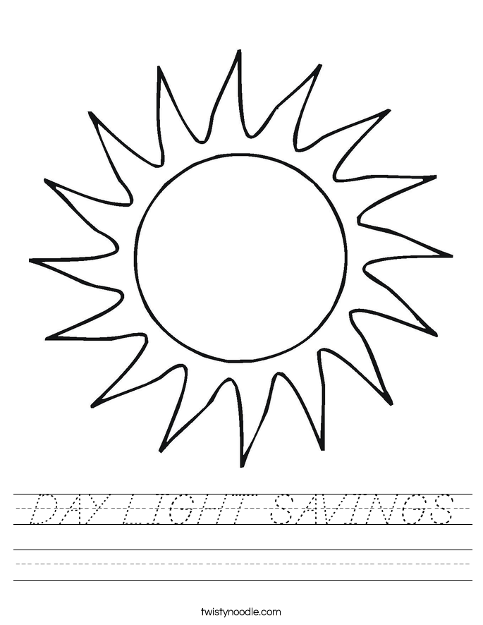DAY LIGHT SAVINGS Worksheet