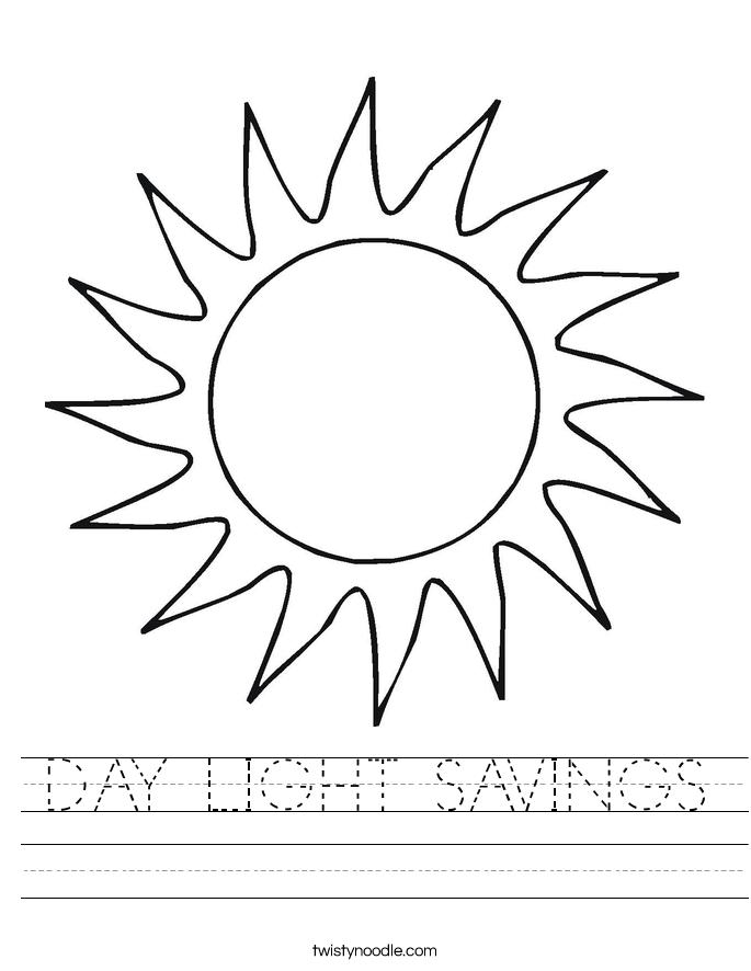 DAY LIGHT SAVINGS Worksheet