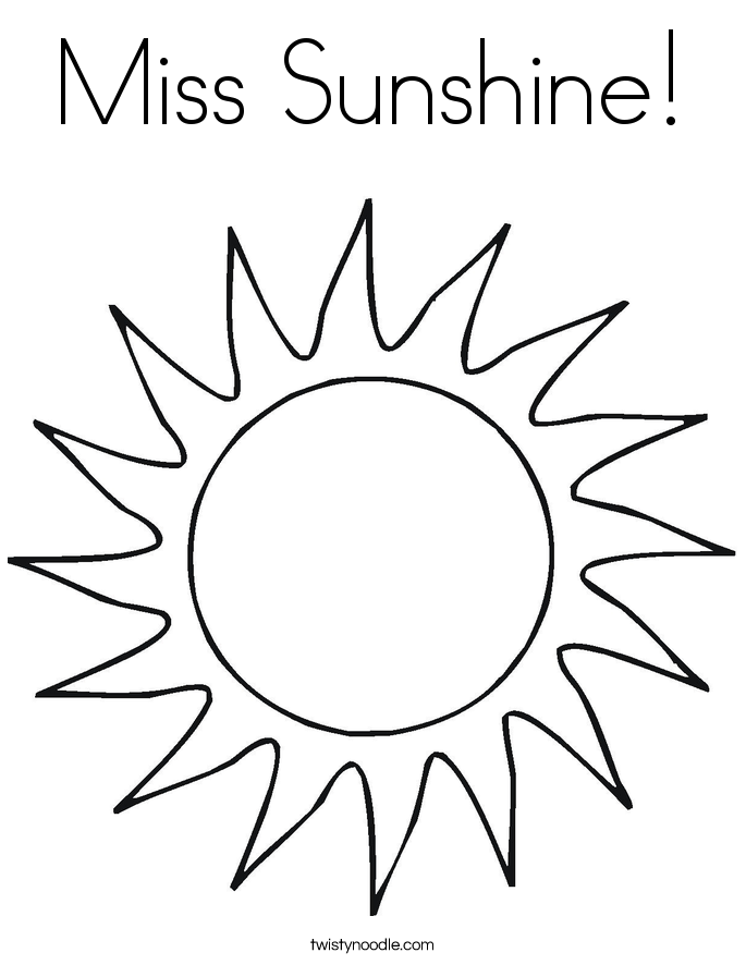 Miss Sunshine! Coloring Page