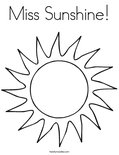 Miss Sunshine!Coloring Page
