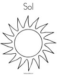 Sol Coloring Page