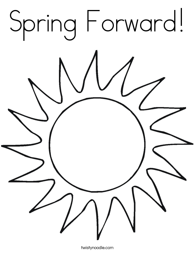 Spring Forward! Coloring Page