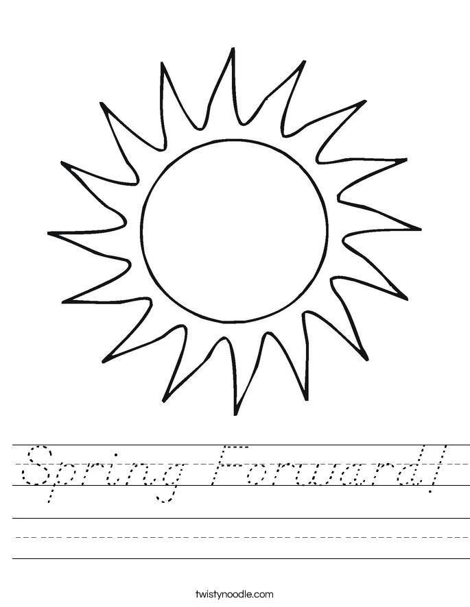 Spring Forward! Worksheet