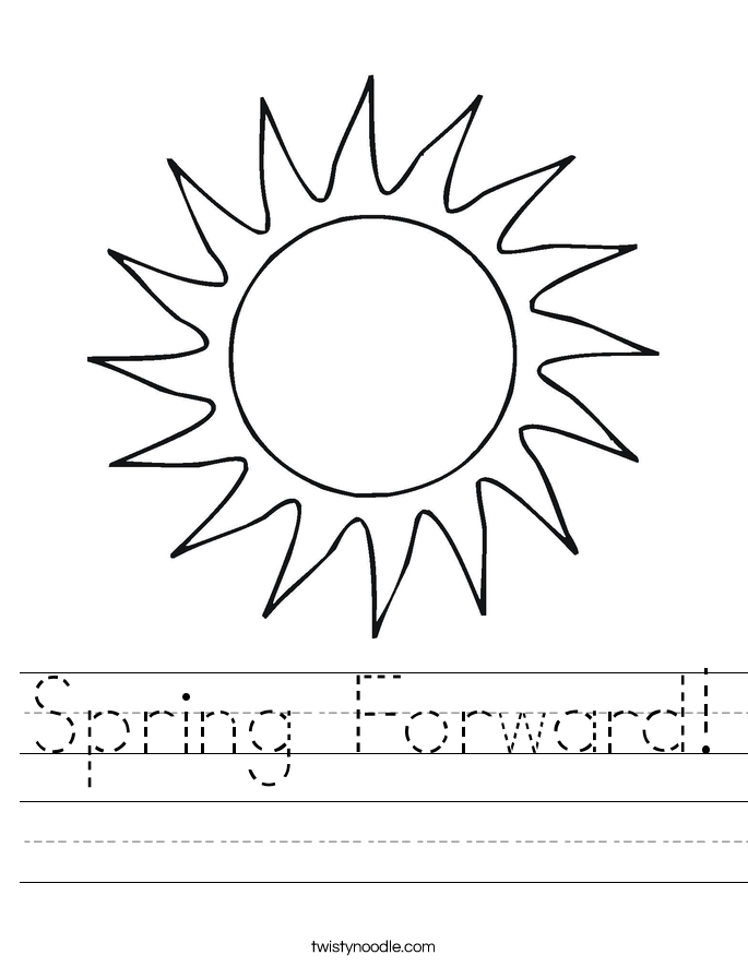 Spring Forward! Worksheet