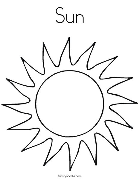 Sun Coloring Page - Twisty Noodle