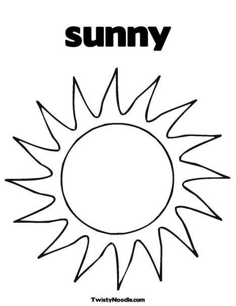 Weather Chart Coloring Pages Partly Sunny Coloring Pages