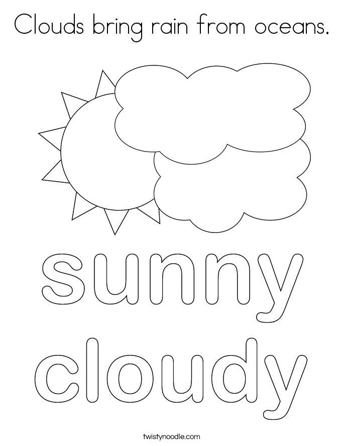 rain cloud coloring page