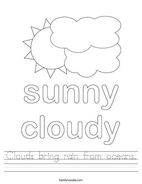 cumulus cloud coloring pages - photo#17