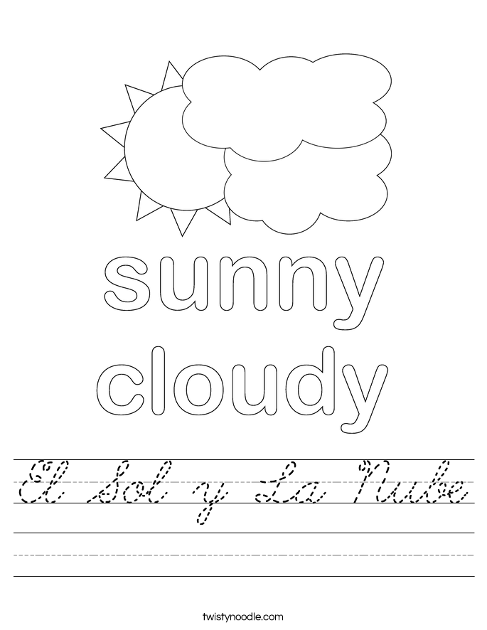 El Sol y La Nube Worksheet