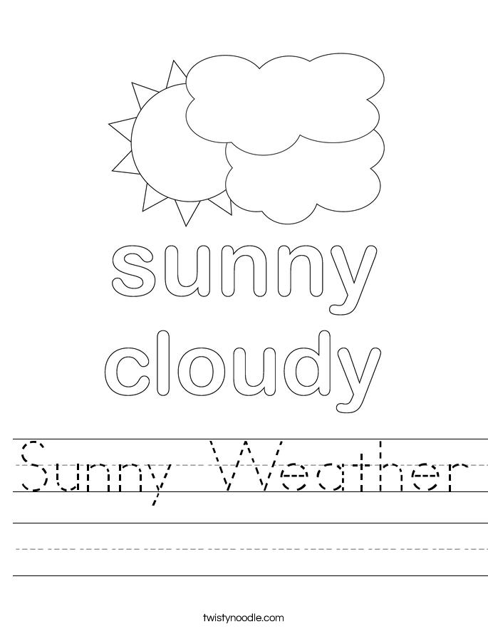 Sunny Weather Worksheet