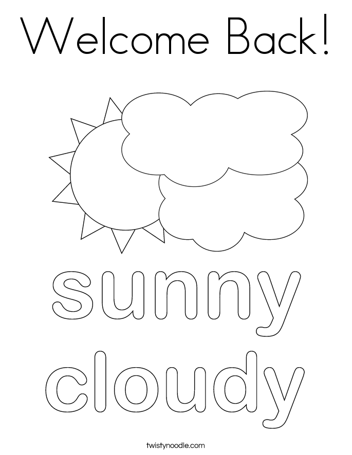Welcome Back! Coloring Page