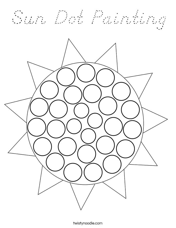 Sun Dot Painting Coloring Page