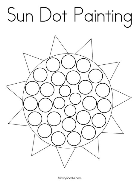 Sun Dot Painting Coloring Page Twisty Noodle