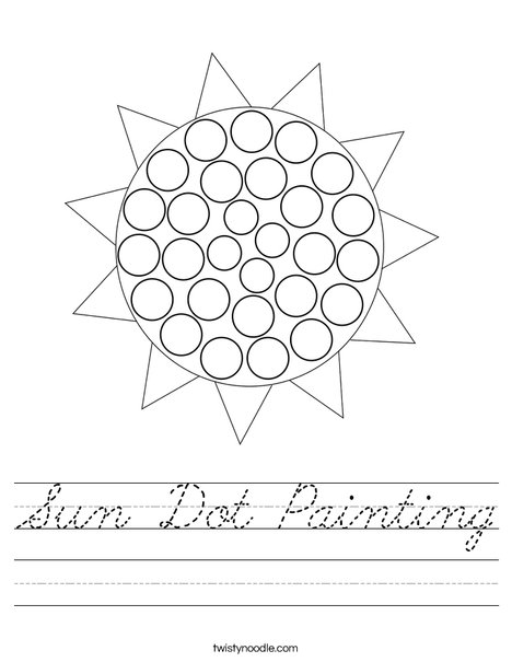 Sun Dot Painting Worksheet