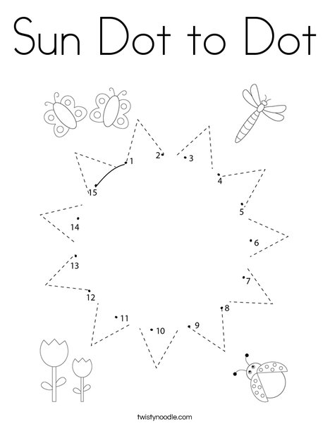 - Sun Dot To Dot Coloring Page - Twisty Noodle