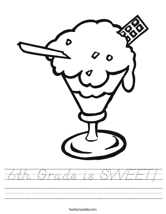 6th Grade is SWEET! Worksheet
