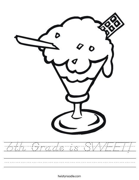 Sundae Worksheet