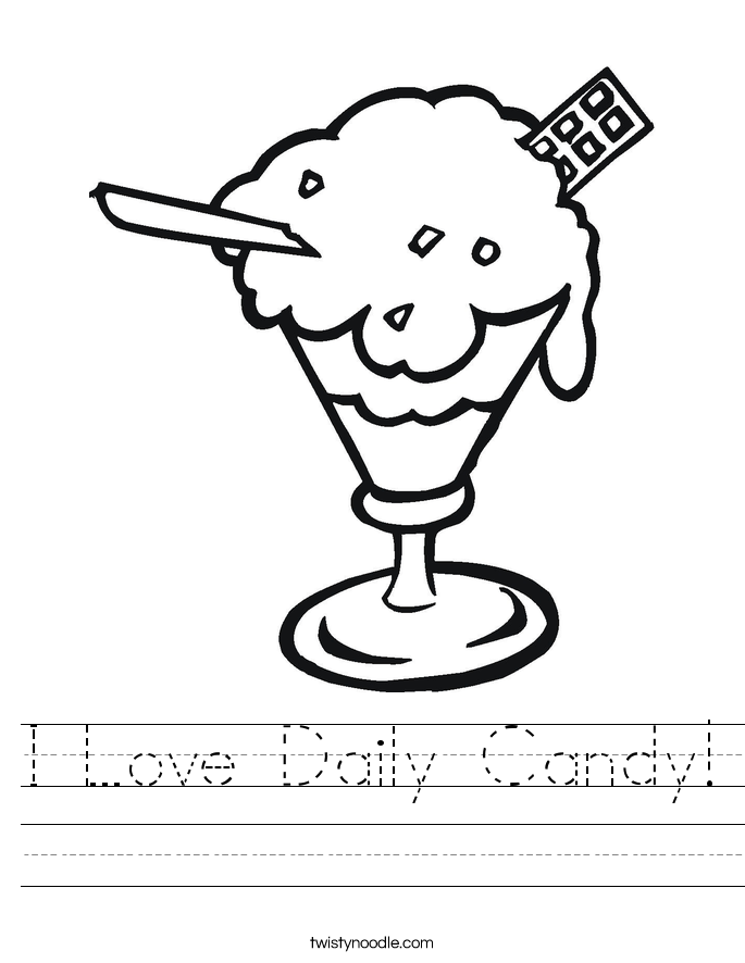 I Love Daily Candy! Worksheet