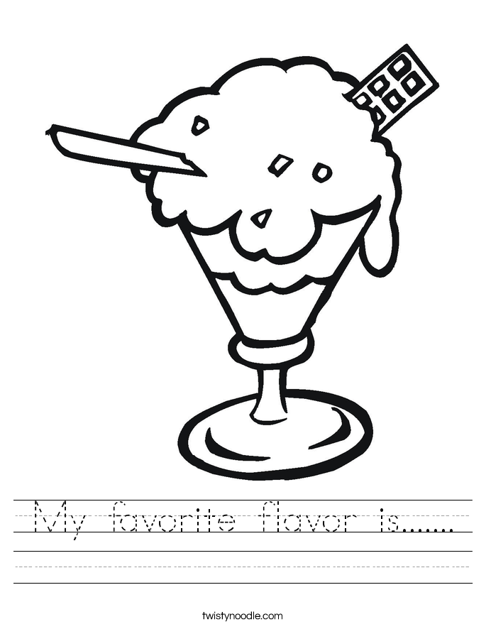 My favorite flavor is....... Worksheet