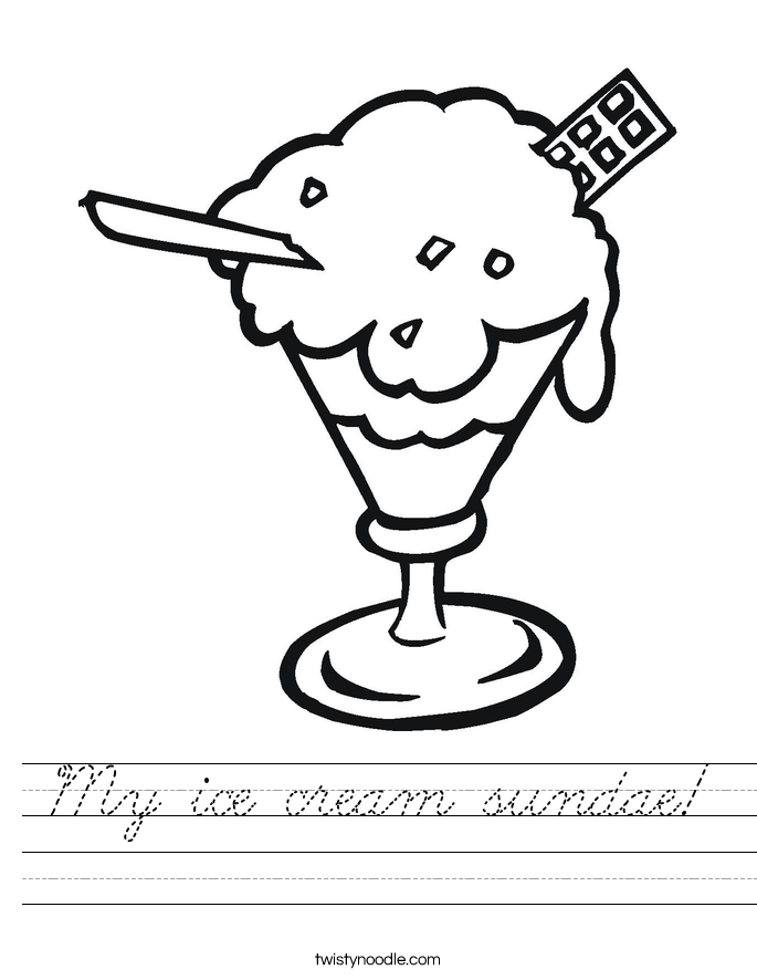 My ice cream sundae! Worksheet