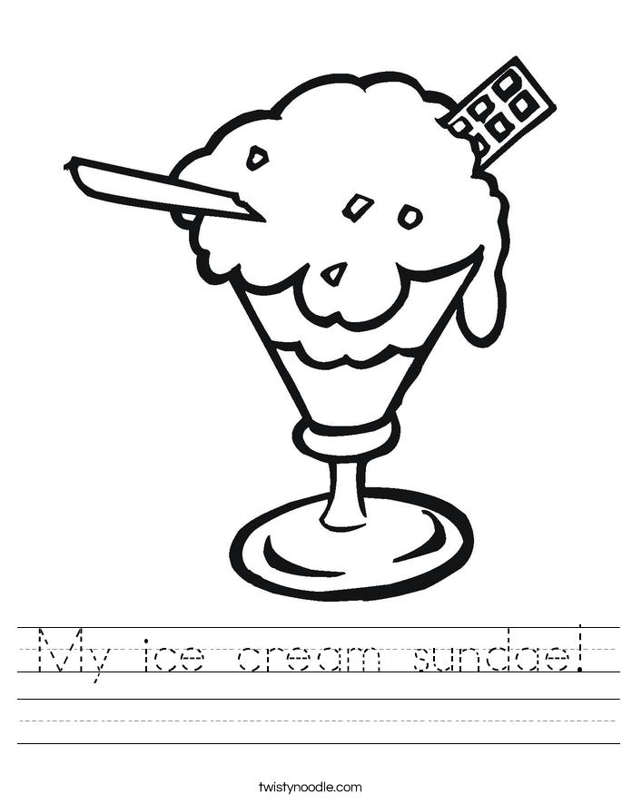 My ice cream sundae! Worksheet