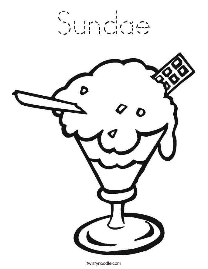 Sundae Coloring Page
