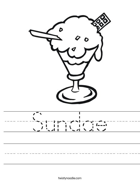 Sundae Worksheet