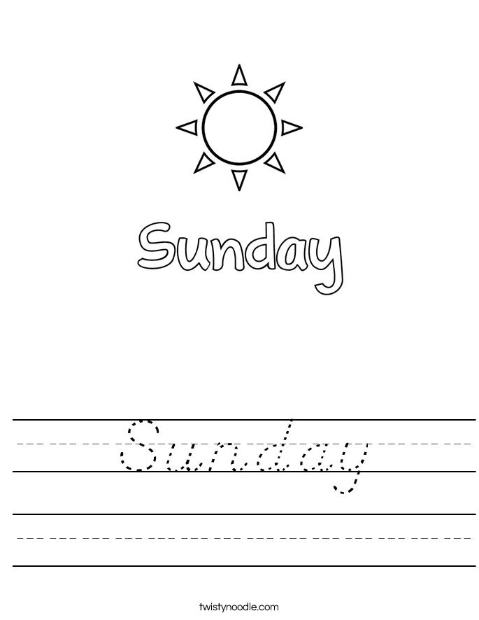Sunday Worksheet