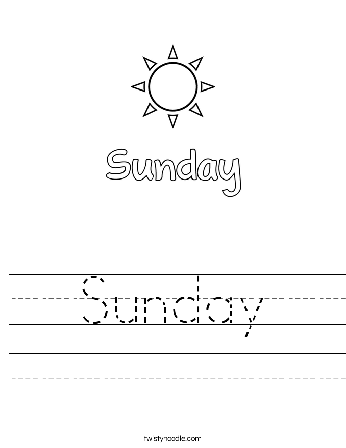 Sunday Worksheet