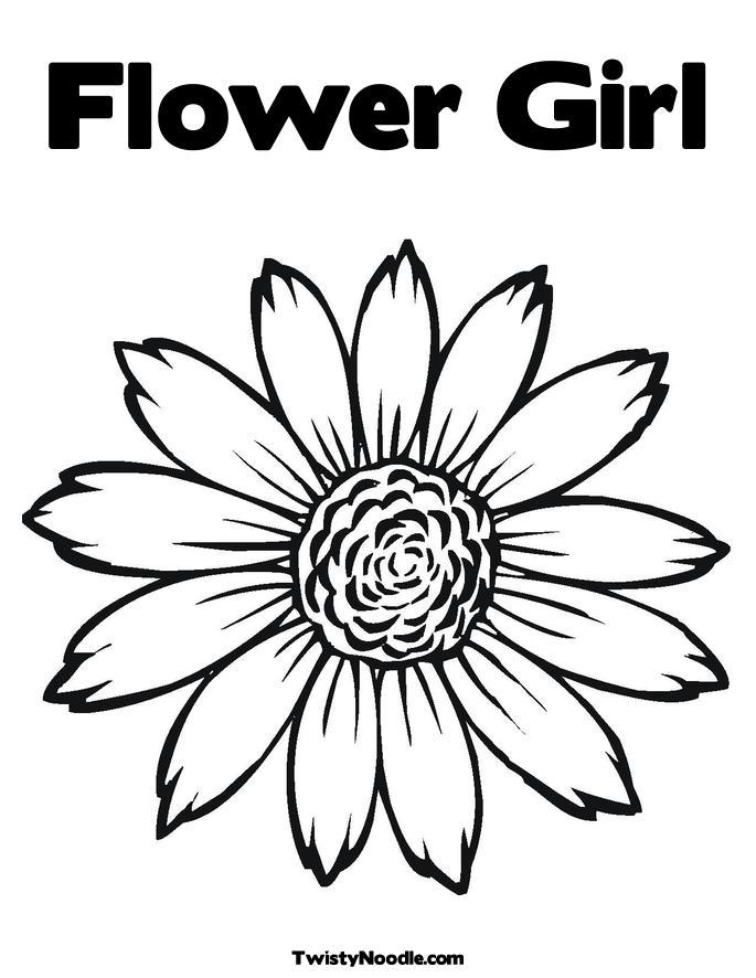 flower girl coloring book | Flower Inspiration