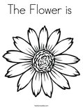 The Flower is Coloring Page