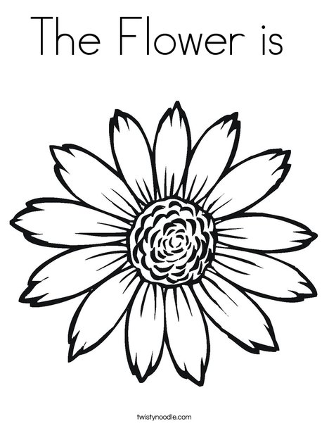 Sunflower Coloring Page