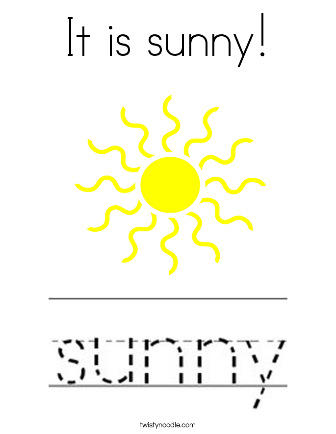 It is sunny! Coloring Page