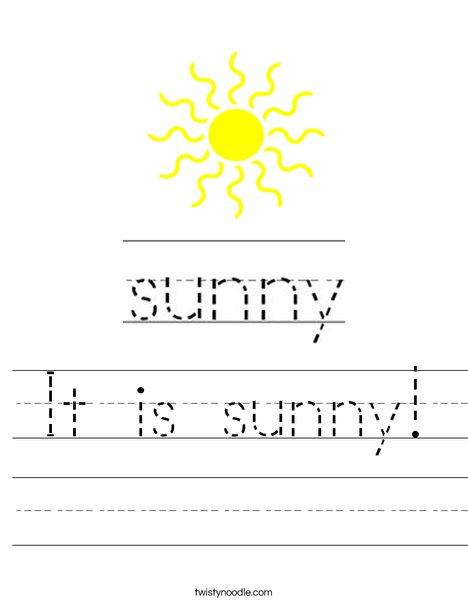 Sunny Worksheet